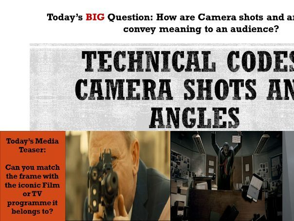 YEAR 9: Lesson 6-8, Camera Angles and mise-en-scene (NEW EDUQAS SPECIFICATION 2017 TEACHING ONWARD)