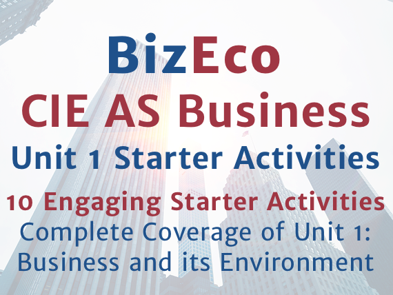10 Engaging Starter Activities - CIE AS Business Unit 1