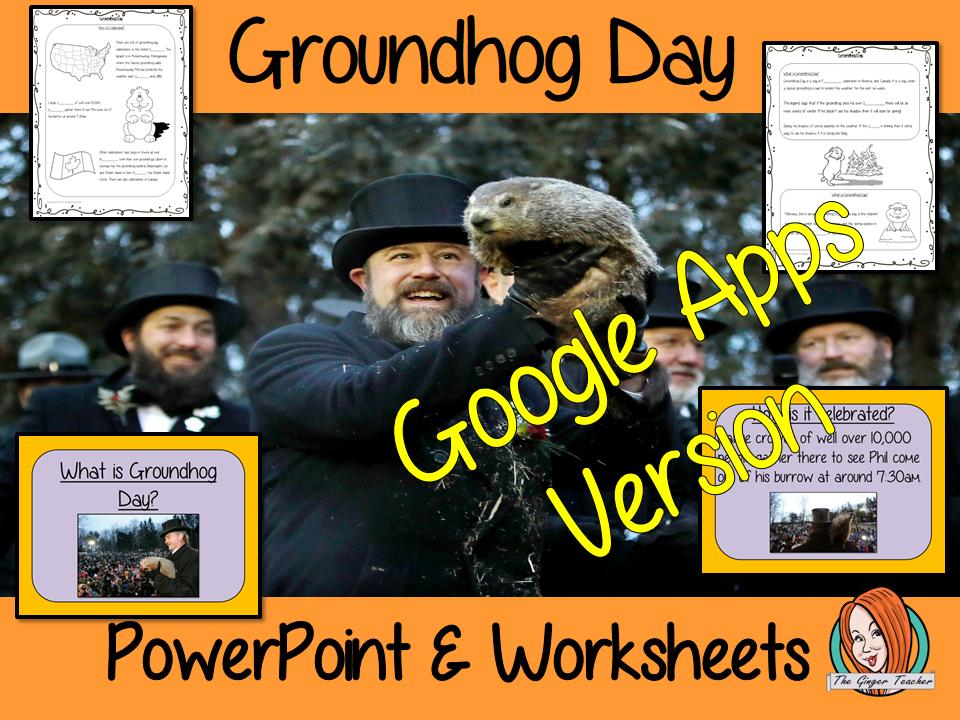 Distance Learning Groundhog Day Google Slides Lesson