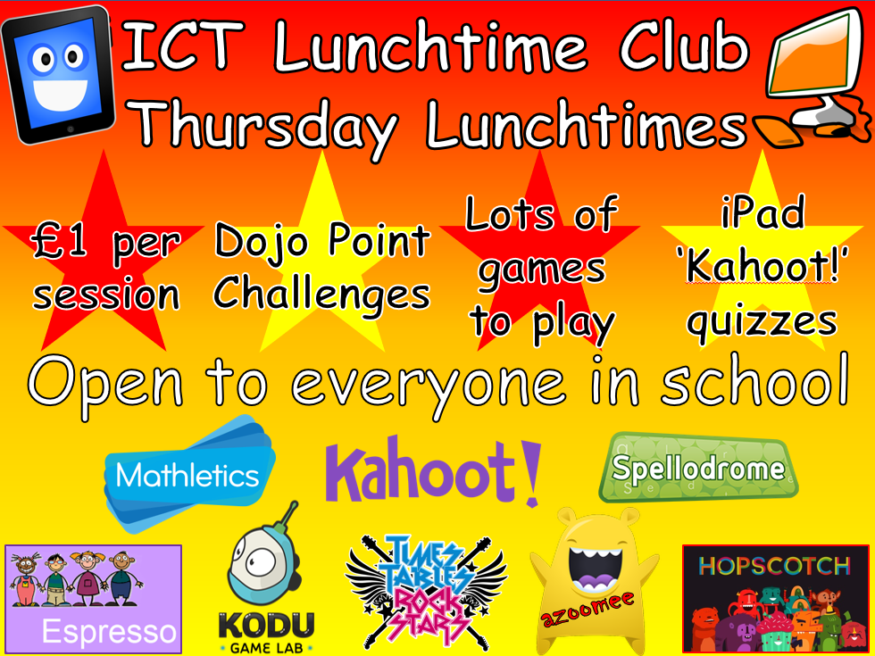 ICT Club letter template and ICT Club poster template for your school