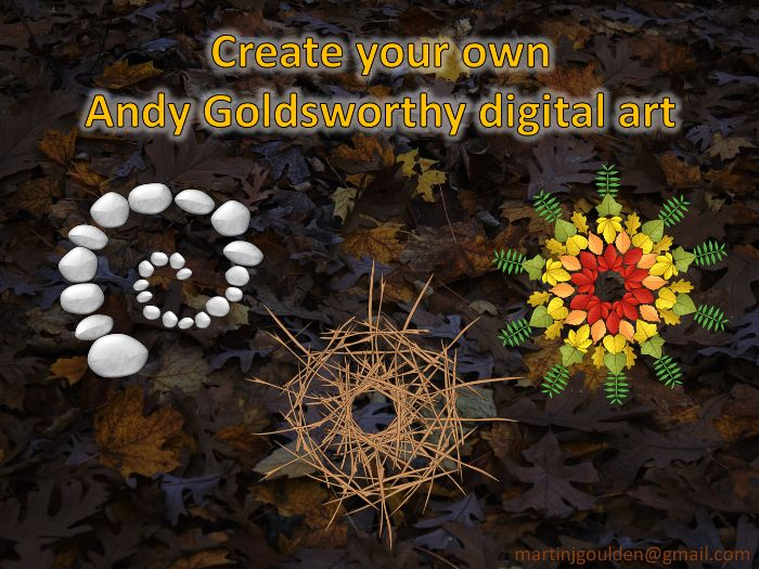 create your own andy goldsworthy digital art