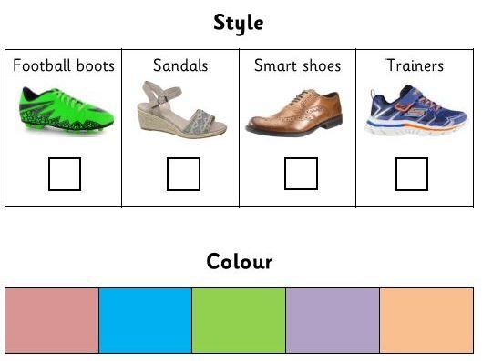Shoe Shop Order Form