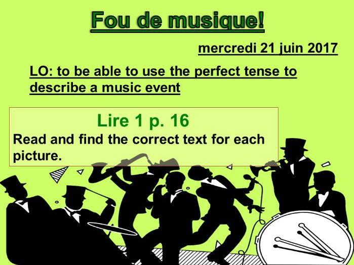 Fou de musique! - Studio 3 Vert Module 1 Unit 5