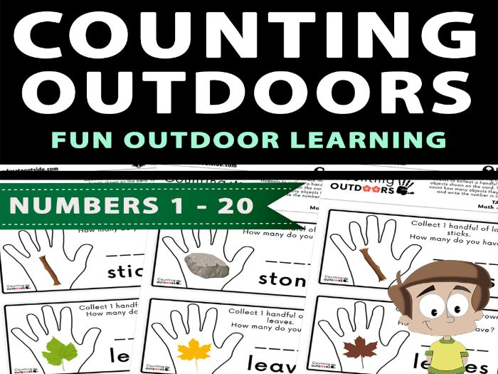 Counting Outdoors: Numbers 1 - 20