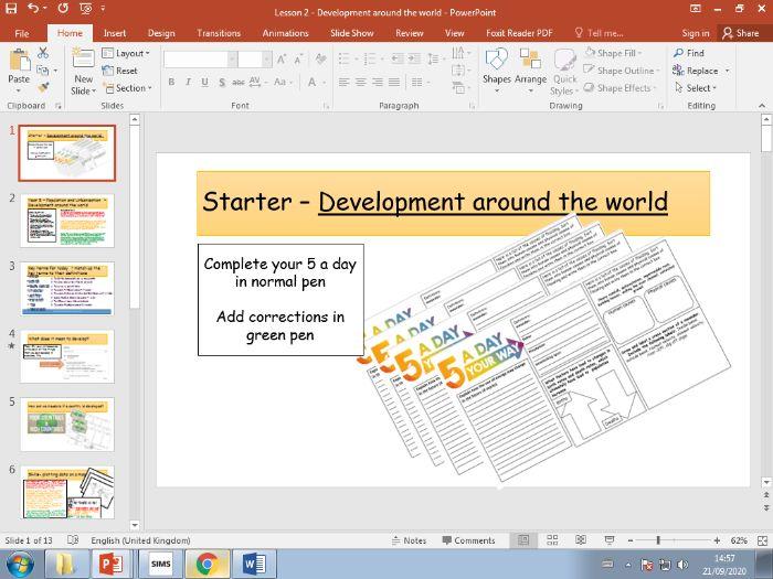 ks3 Population and urbanisation - development around the world