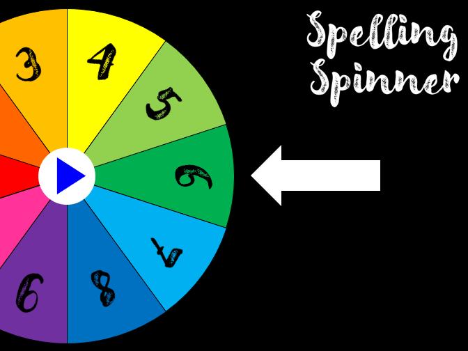 Spelling Activity Wheel
