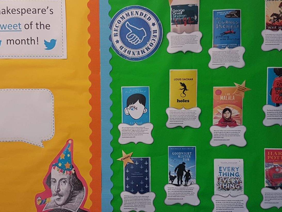 Ks3/4 English classroom - 4 displays