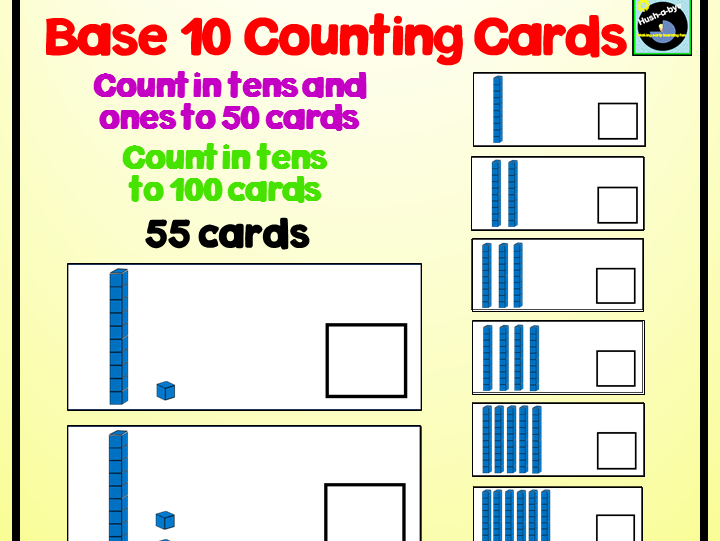 Base 10 Counting Cards