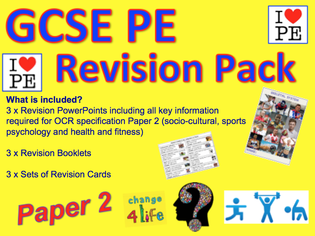 GCSE PE Paper 2 Socio-cultural influences, psychology and fitness Revision Pack