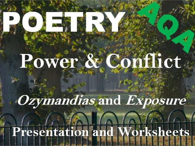 Power + Conflict Poetry - Exam Practice - Planning + Writing Sample Answers - Ozymandias + Exposure