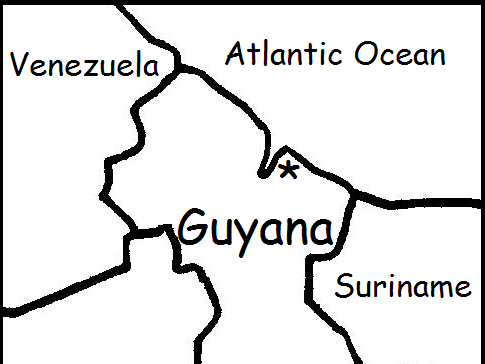 GUYANA - Printable worksheets include a map to color
