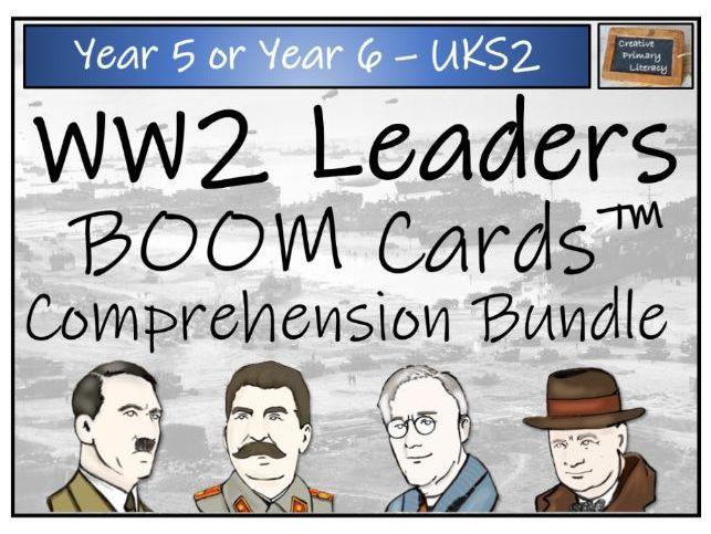 World War 2 Leaders - UKS2 BOOM Cards™ Comprehension Bundle