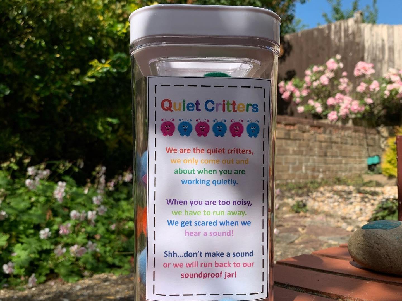 Quiet Critter Jar Label