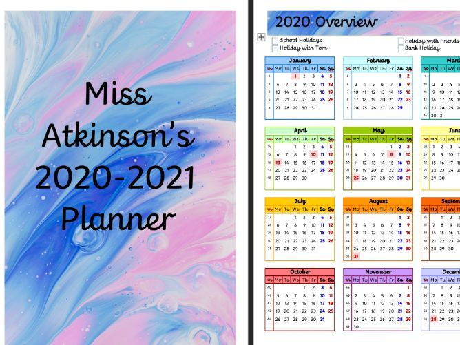 2020-2021 Dated Teacher Planner