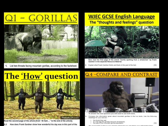 WJEC GCSE English Language Reading exam SOW, Lessons and Lecturer podcasts (Unit 1)