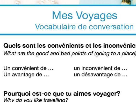 Conversations Mini Pack: Mes Voyages