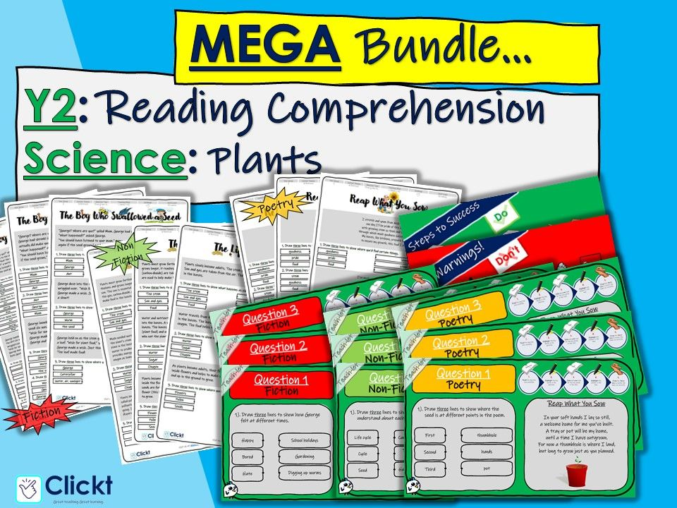 Year 2 Reading Comprehension MEGA-BUNDLE: Science: Plants