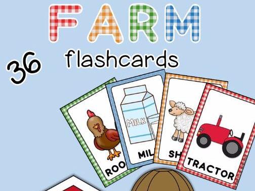 Farm flashcards