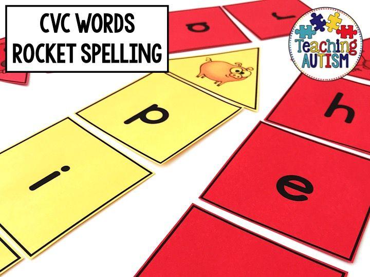 CVC Words Spelling Rockets