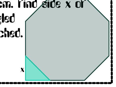 Trigonometry / Pythagoras Problem solving question with Answers (+ Stickers 7160)