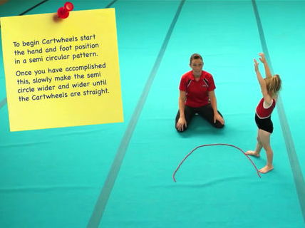 Teaching Gymnastics Video For Advanced Gymnasts; Arabesque