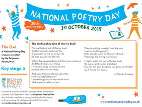 National Poetry Day 2019 Resource from Betjeman Poetry Prize
