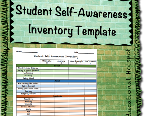 Student Self Awareness Inventory Template