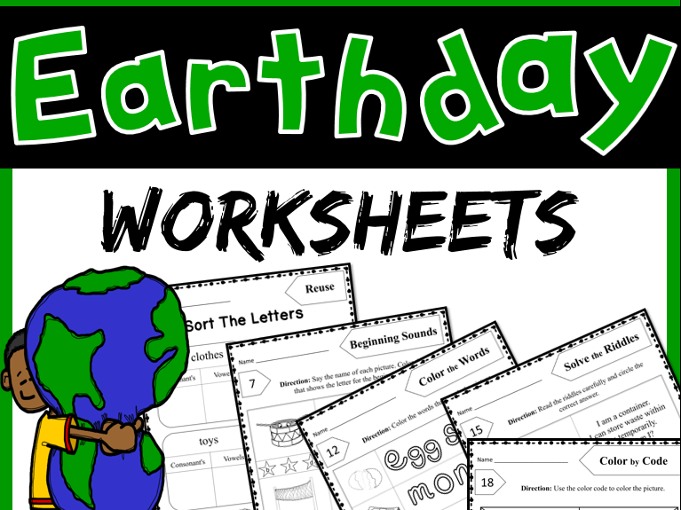 Earth Day Activities - Worksheets