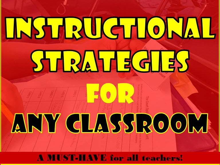 Instructional Strategies for ANY Classroom (70 Total)