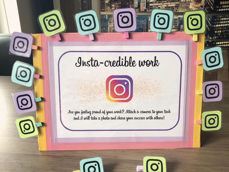 "Request a selfie resource - ""Insta-credible work"""