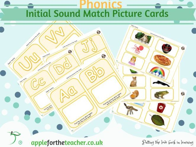 Initial Sound Match Picture Cards EYFS SEN KS1
