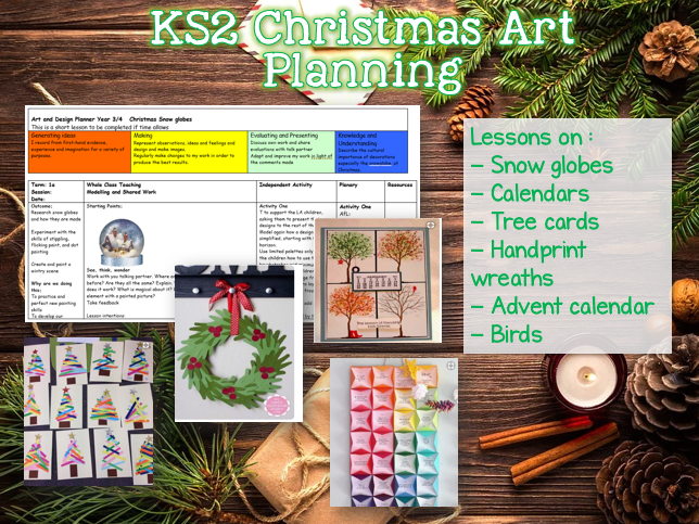 LKS2 Christmas Art Planning - 9 lessons
