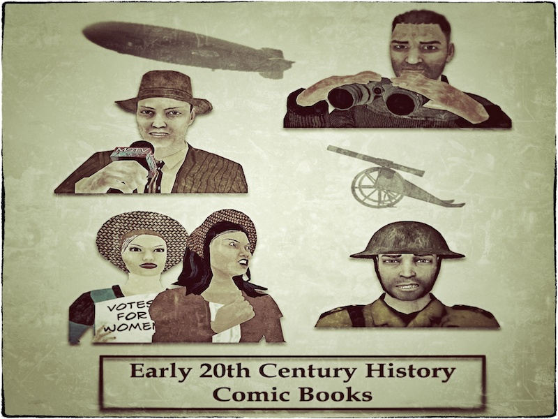 History Graphic Readers (Comic Book Style) Bundle