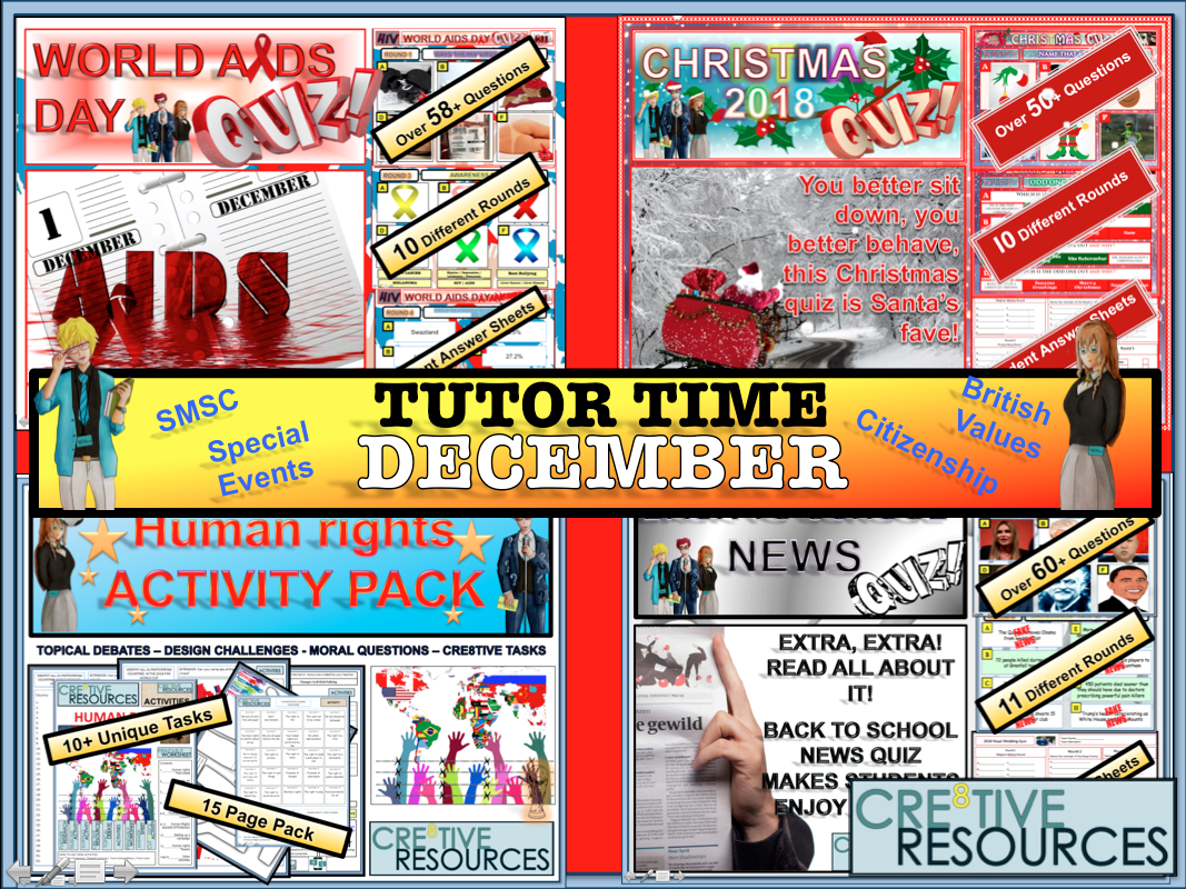 December Tutor time Package 2019