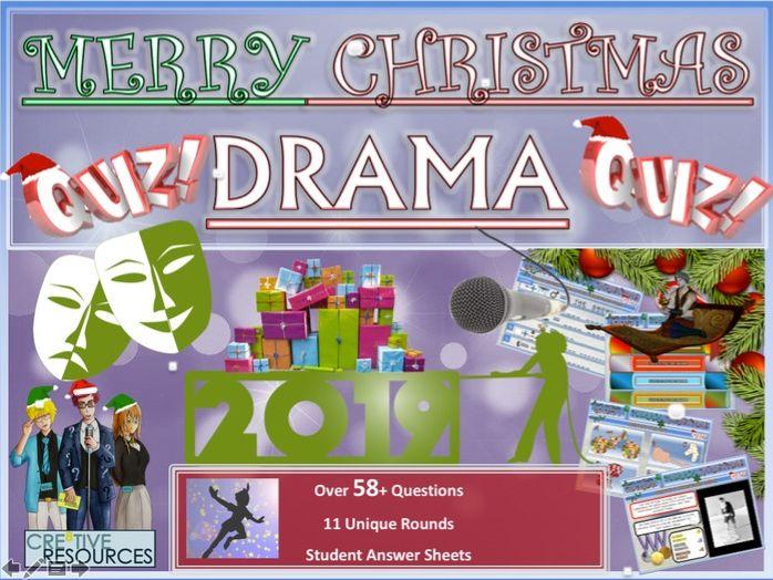 Drama Christmas Quiz 2019