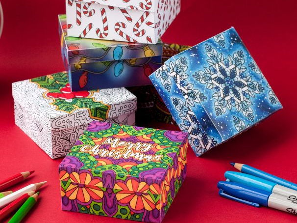 DIY Christmas Gift Boxes   6 Pack
