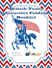 British Taxes Interactive Foldable Booklet