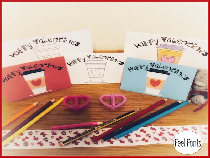 Valentine Cards and Vector cups, cards, printable, activity, Valentine's, Greeting cards