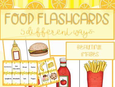 Food flashcards : Ketchup and cornflakes