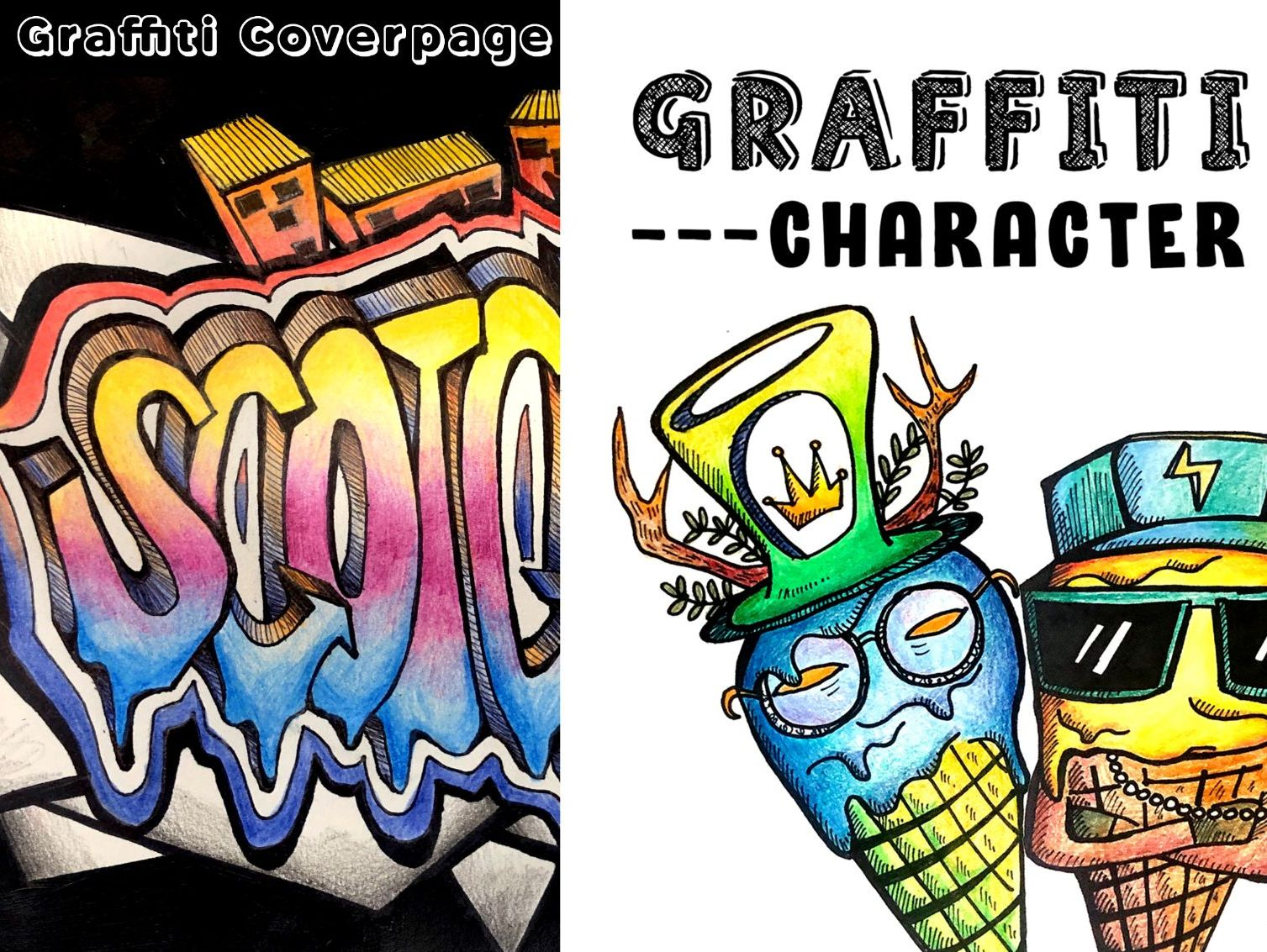 BUNDLE Graffiti Art Lessons [Home Learning Possible]
