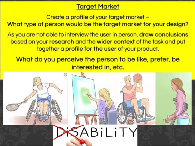 D&T Mini Design Project - Adaptive Sports Equipment for Disability Target Markets