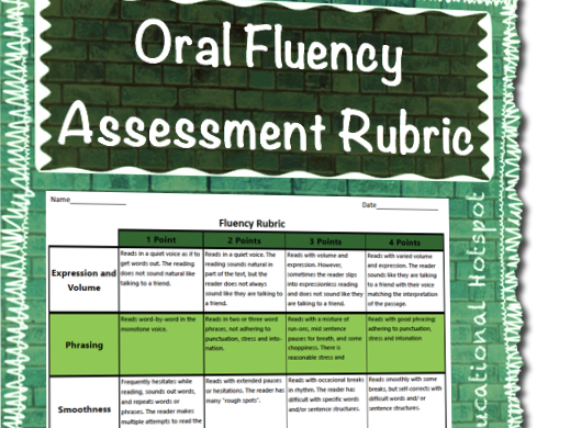 Oral Presentation Fluency Assessment Rubric