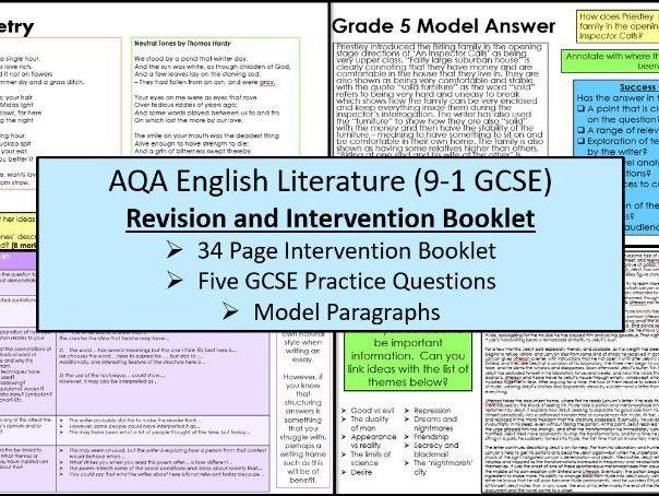 English Literature Intervention Booklet