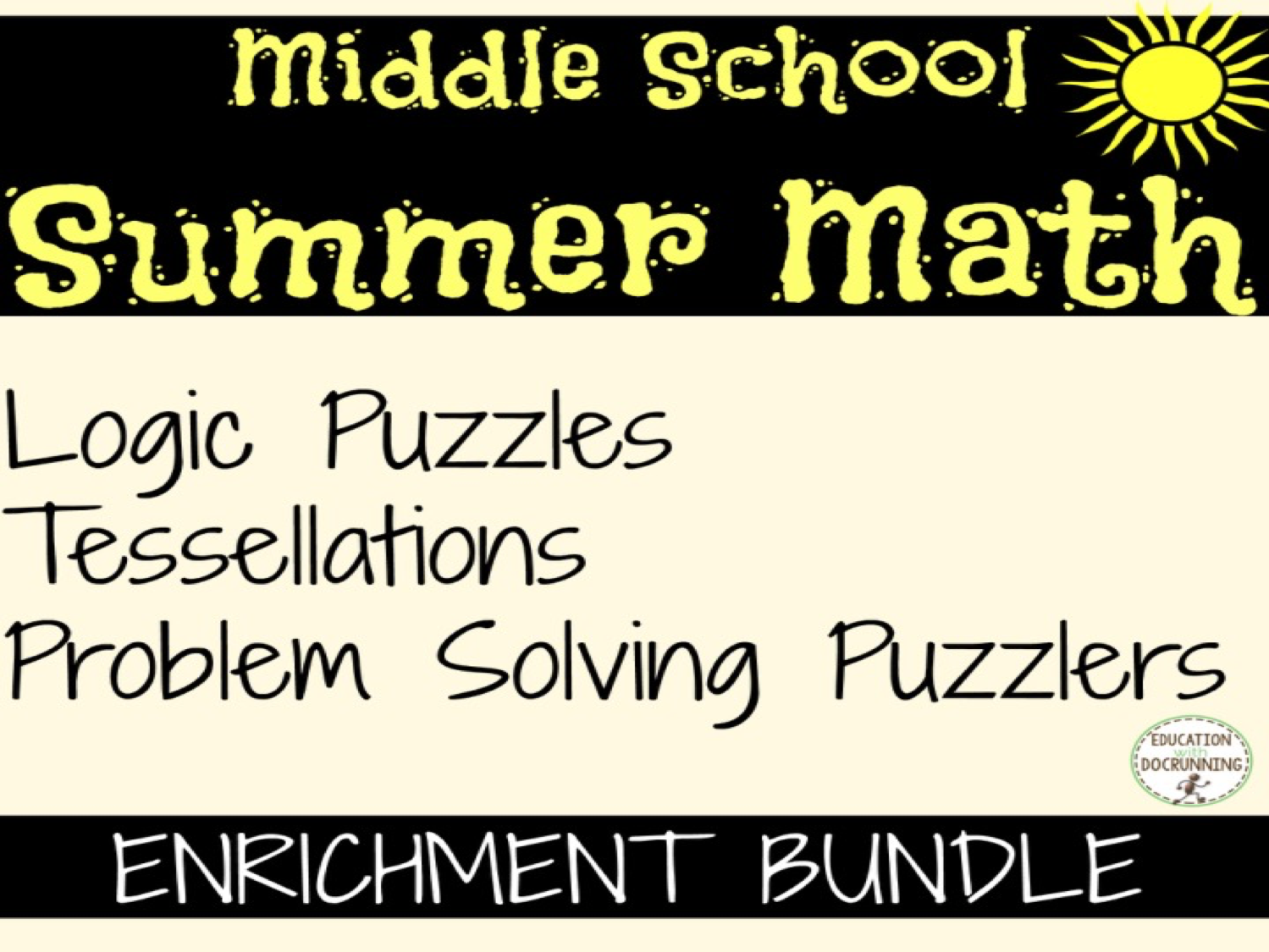 Summer Math Problem Solving bundle