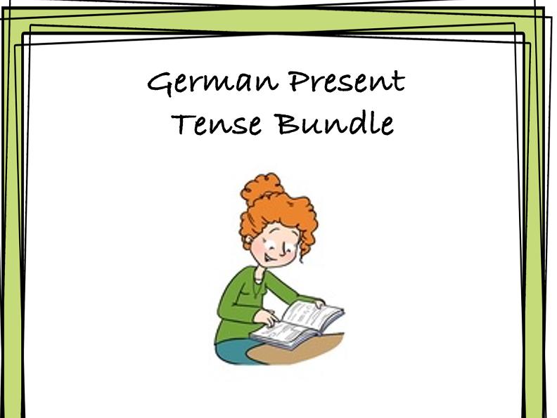 German PRESENT Tense Bundle: TOP 4 Resources at 35% off!