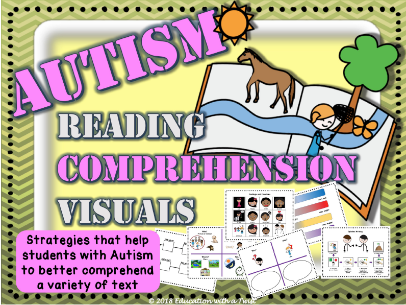 Autism Reading Comprehension And Worksheets - Strategies, Tools, And  Visuals Teaching Resources