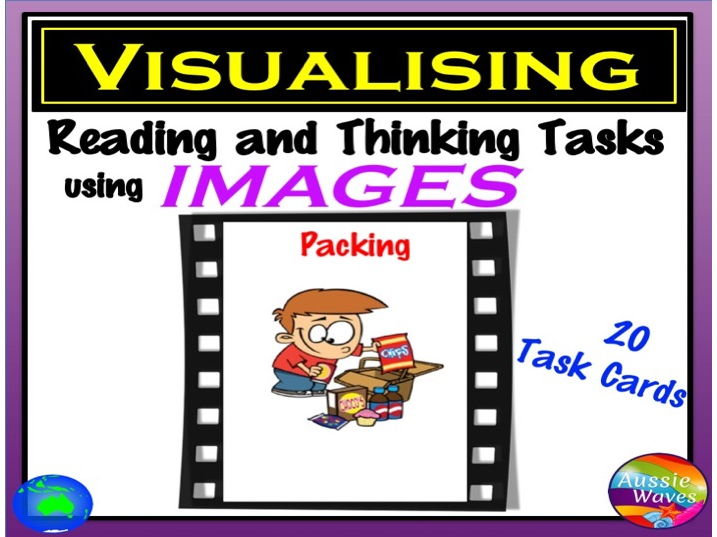 """VISUALISING Reading Comprehension & Connection Skills using Images VISUAL TEXT """"PACKING"""""""