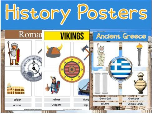 5 Primary History Posters / Worksheets