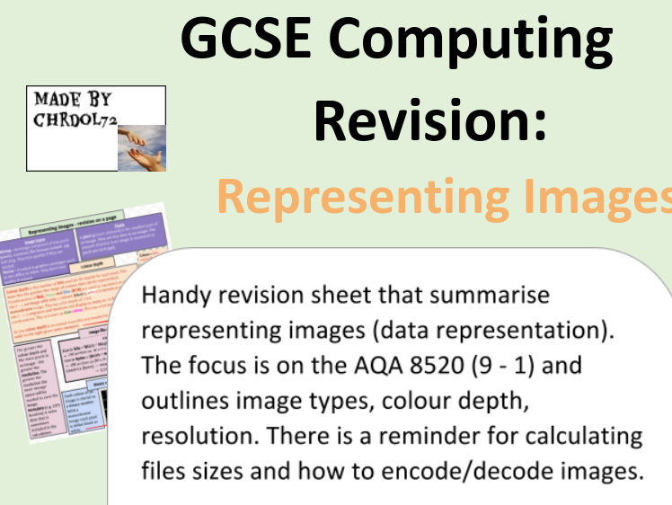 GCSE Computing Revision: Representing images