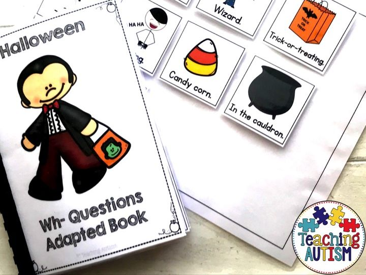 Halloween Wh Questions Adapted Book